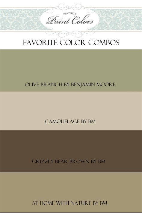 olive branch color combo favorite paint colors