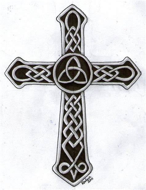 trinity cross tattoo 46 celtic cross tattoos designs