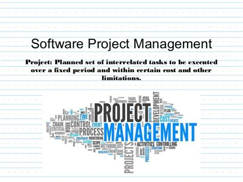 Mba In Software Project Management by Unit 1 Introduction Tosoftengg Mba Tech Ii Year
