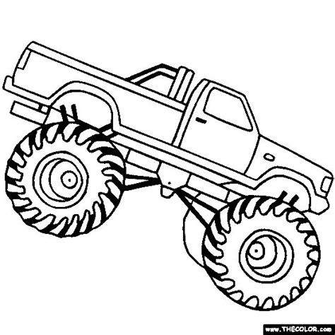 monster truck coloring coloring page monster trucks