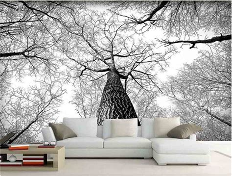 black and white tree wallpaper for walls 3d murals living room entrance mural wallpaper black and