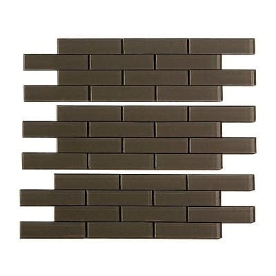 Home Depot Subway Tile by Aspect Subway Matted 12 In X 4 In Glass Decorative Tile