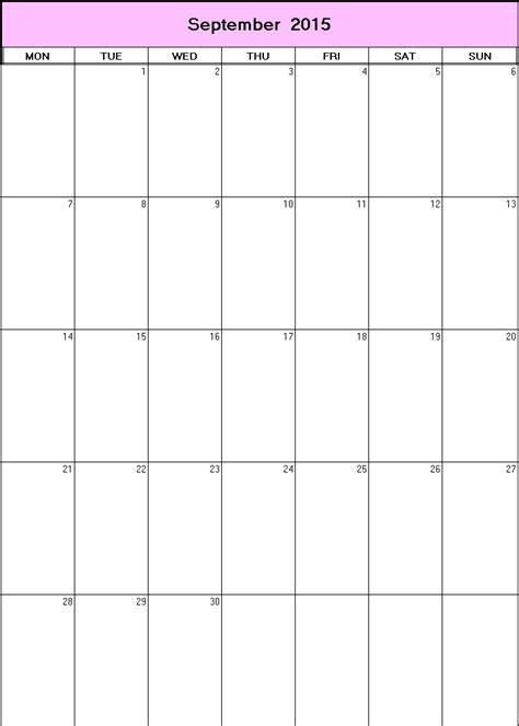 printable planner for september 2015 september 2015 printable blank calendar