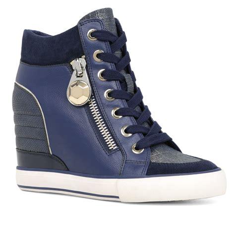 aldo sneakers aldo aalessa wedges sneakers in blue lyst