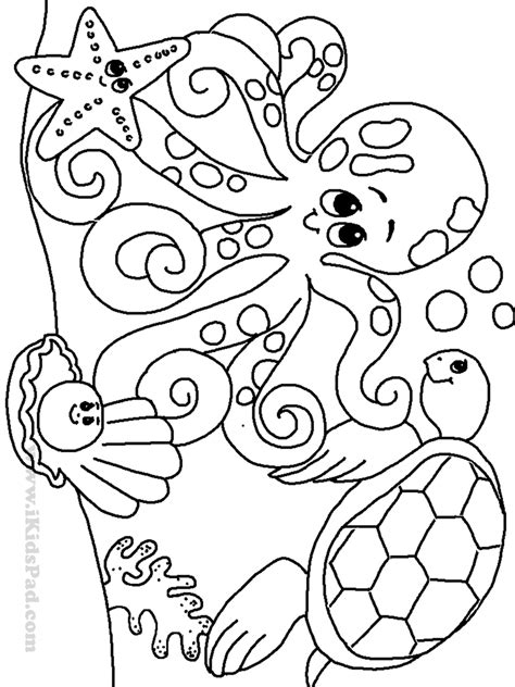 Preschool Coloring Pages Ocean Animals | ocean coloring pages for kindergarten coloring pages
