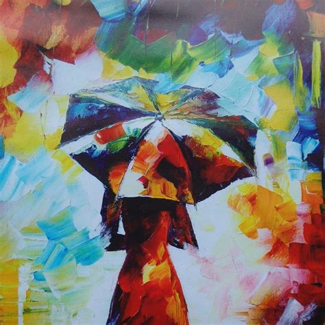 Lukisan 0003 Painting modern abstract wall painting umbrella in the