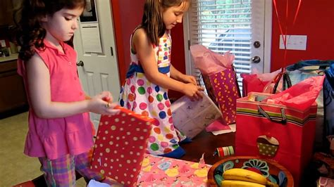 scarlett opens presents for her 6th birthday youtube