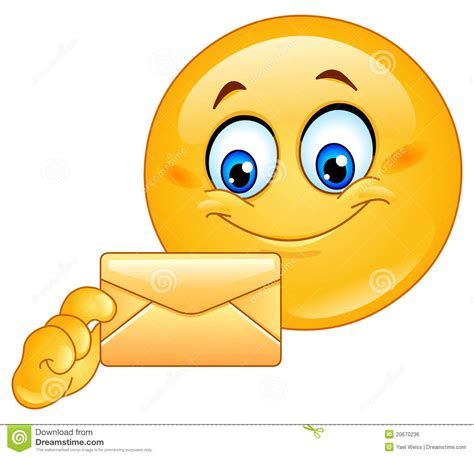 smiley face in envelope royalty free stock photo image emoticon with envelope royalty free stock image image