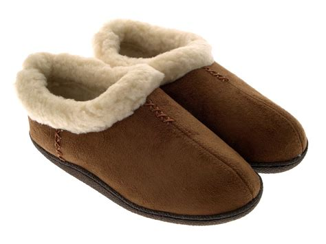 fur lined slippers womens slipper shoes slip ons warm faux suede fur