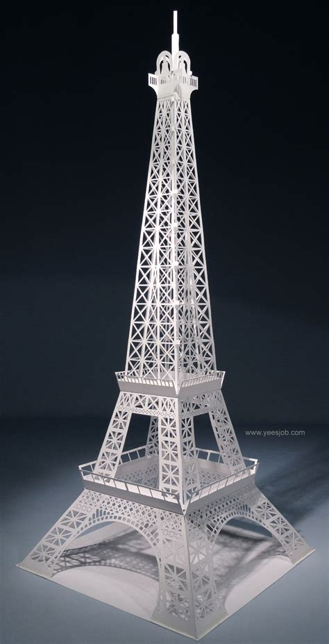 origami tower the eiffel tower pop up origami architecture diy kit