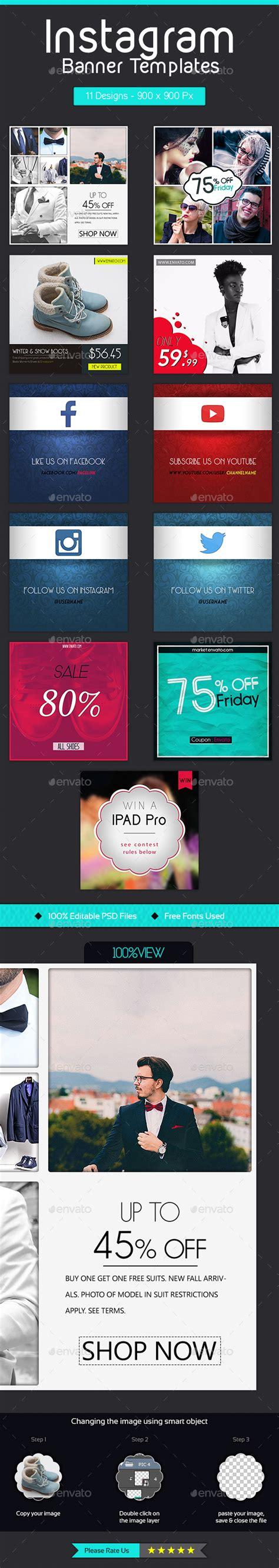 instagram banner templates 11 designs by ahfid instagram banner templates 11 designs by ahfid
