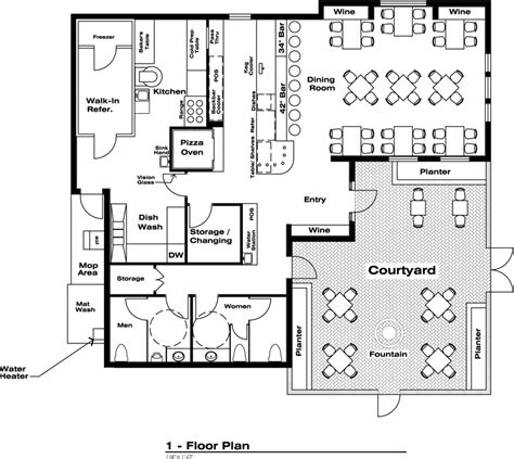 small restaurant floor plan billy larue s pizzeria