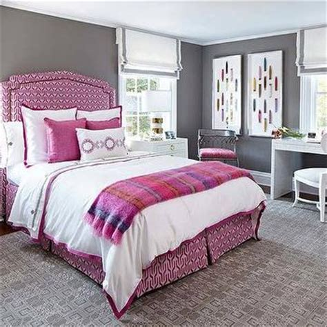 pink borders for bedrooms pink and gray bedroom with serena and lily border frame