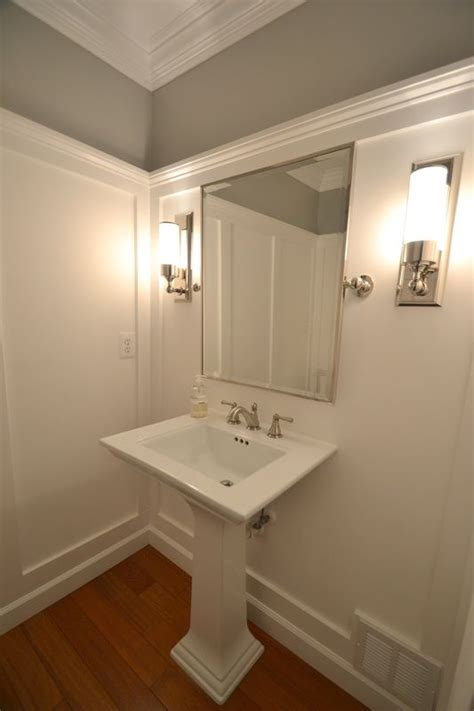 Bathroom Molding Colors Powder Room Transformed With Molding On Walls Ralph