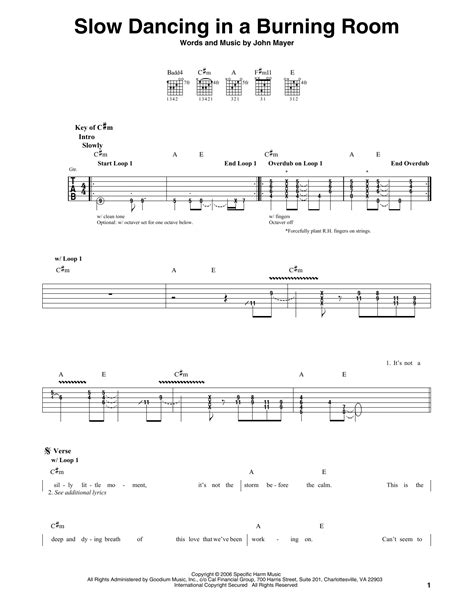 in a burning room chords in a burning room by mayer guitar lead sheet guitar instructor