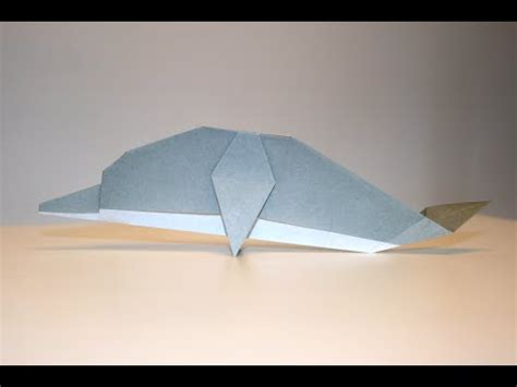 How To Make A Dolphin Out Of Paper - origami dauphin dolphin senbazuru