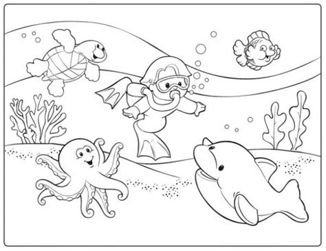 diving coloring pages for childrens printable for free