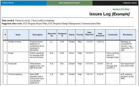 13 Free Sle Issue Log Templates Printable Sles Project Management Issue Log Template
