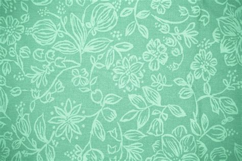 pattern background mint mint green fabric with floral pattern texture picture