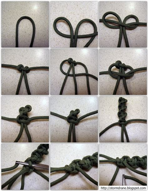 How To Tie A Spiral Knot - stormdrane s twisted spiral paracord cross