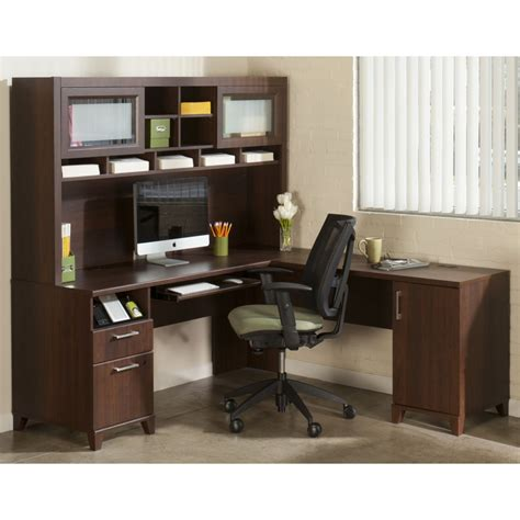 furniture wonderful l shaped computer desk with hutch for