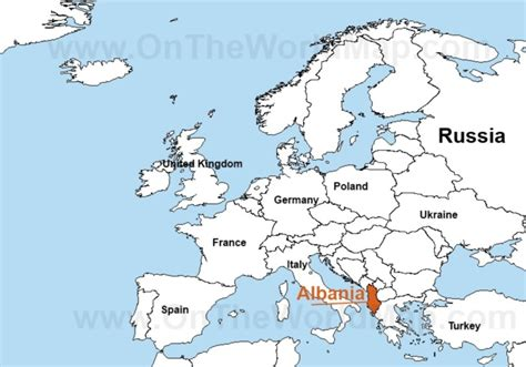 where is albania on the map albania map europe thefreebiedepot