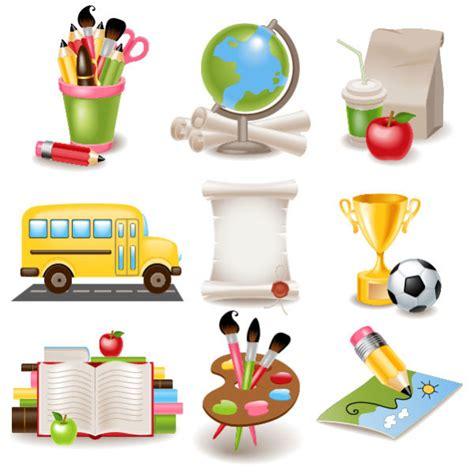 school supplies template vector free cute cartoon school supplies vector set 03 over millions