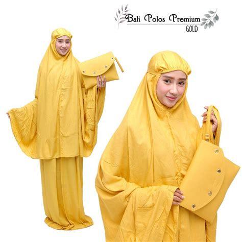 Mukena Katun Nazaha Premium jual mukena katun polos premium gold motif cantik harga murah