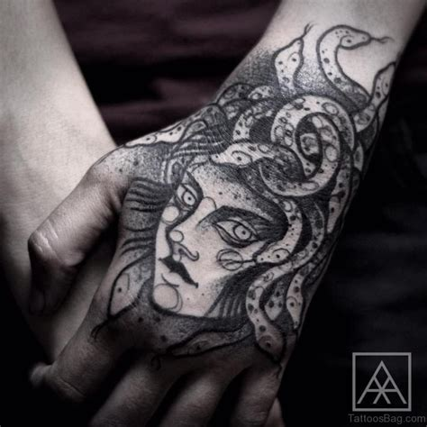 black hand tattoo medusa images designs