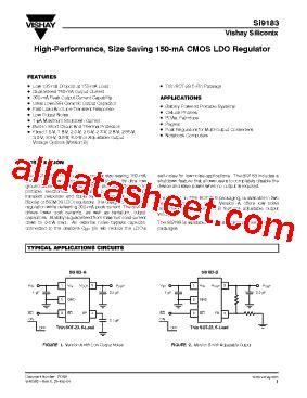transistor datasheet vishay si9183 datasheet pdf vishay siliconix