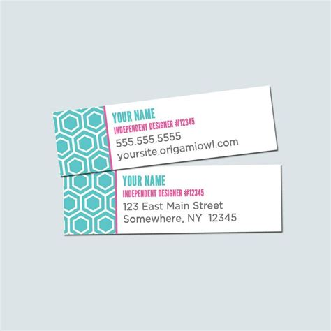 Origami Owl Returns - editable origami owl adress labels invitations ideas