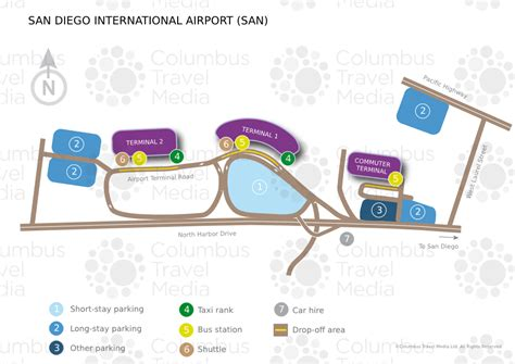 san diego airport map map