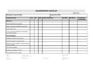 20 4 housekeeping checklist