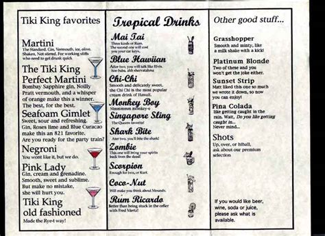 Bar Lounge Drink Menu Island Bar Birmingham City Centre Birmingham Drinks Menus Barlogic Tiki Bar Menu Template