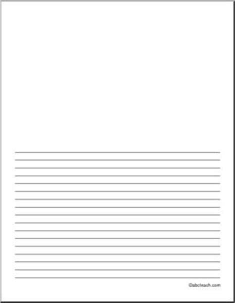 lined writing paper with picture space writing paper blank 18 pt portrait illustration space