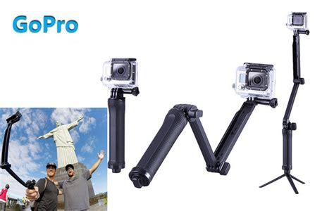 Dijamin Tongsis 3 Way Go Pro gopro accessories 3 way grip arm tripod monopod 3way mount for go pro 4 3 3 xiaomi xiaoyi