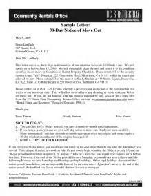 notice to move out template tenant to landlord 30 day notice letter exle cover