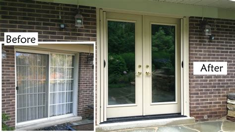Replace Glass In Patio Door Replace Sliding Glass Patio Door With Provia Heritage Fiberglass Door Retractable Screen