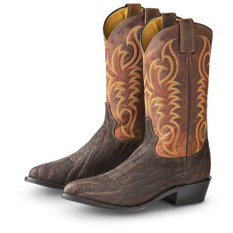 vintage cowboy boot l s tony lama 174 vintage elephant boots chestnut