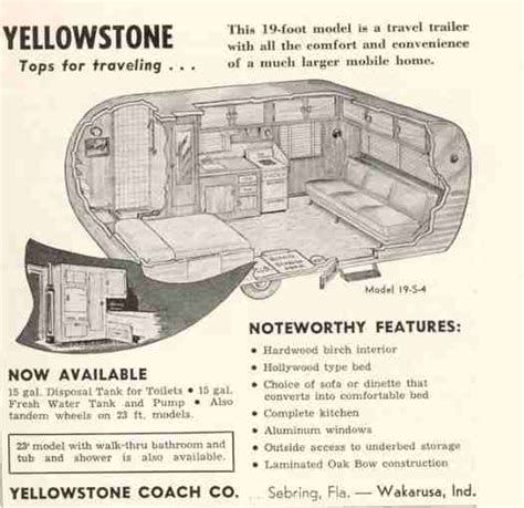 Rear Kitchen Rv Floor Plans Yellowstone Tin Can Tourists Wiki