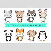 Kawaii animal clipart - ClipartFest