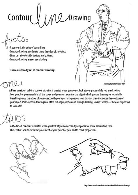 Drawing Exercises by Contour Drawing Not A Project But Definitely A