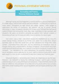 finance statement template accounting and finance personal statement template