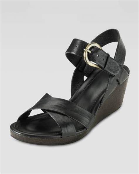 Heels Tali T cole haan air tali low wedge sandal black in black lyst