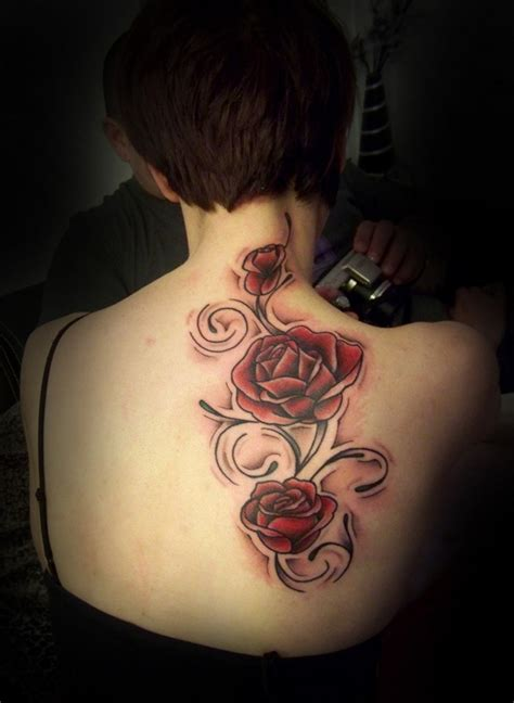 girl roses tattoos flower back tattoos www pixshark images