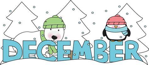 printable december banner month of december winter scene clip art months