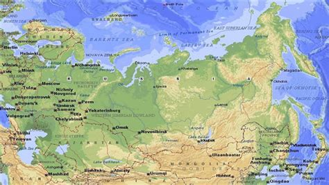 map northern europe russia russia