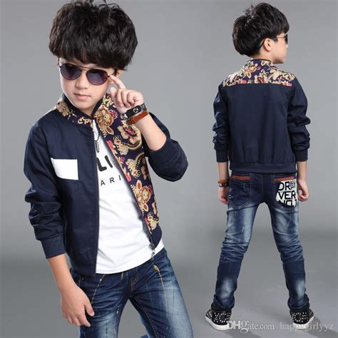 fashion clothes for 8 year old boy fashion boy pure cotton printed long sleeve high grade