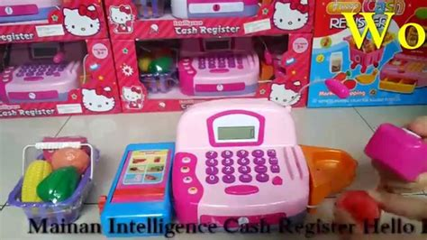 Mainan Anak Hellokitty Skateboard mainan mesin cashier karakter hello intelligence register