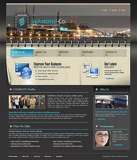 templates for industrial website industrial website template
